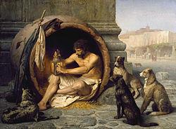 Diogene, filosoful cinic, cel care căuta cu o lampă aprinsă un om, om cinstit !