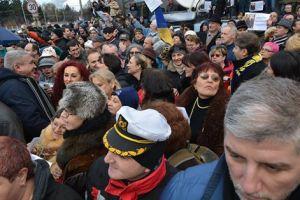 21 decembrie 2014, la plecarea președintelui Traian Băsescu de la Palatul Cotroceni